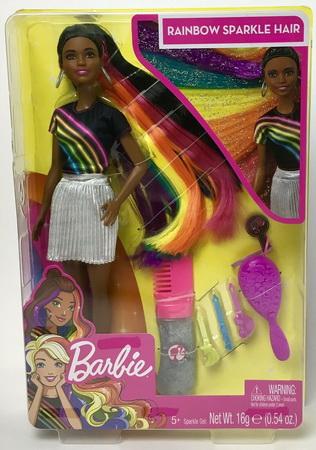 Кукла Nikki Барби с радужными волосами.