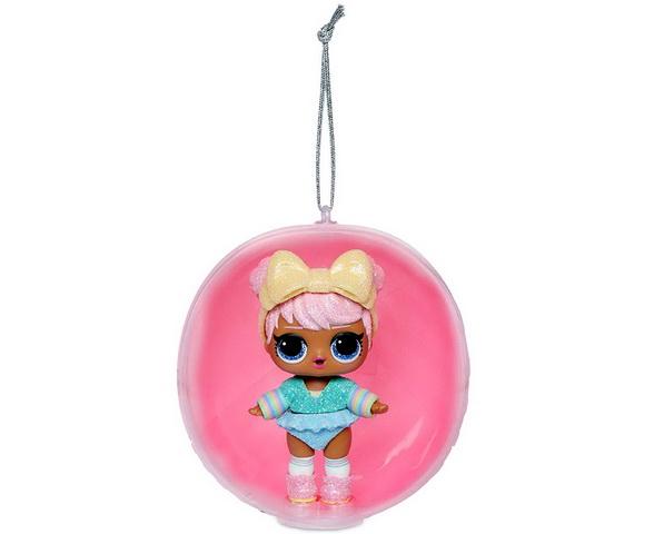Ёлочный шар с куклой ЛОЛ.