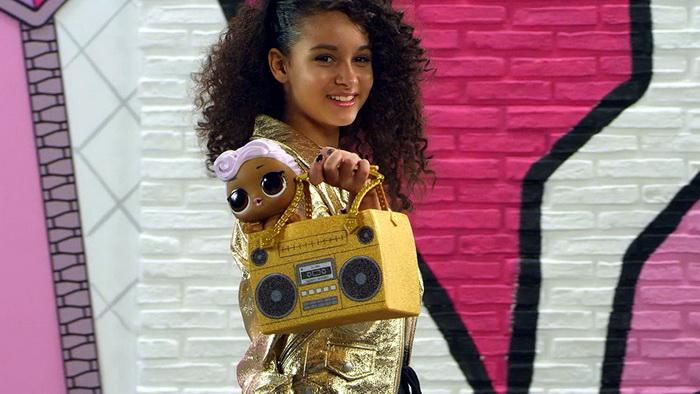 Сумка бумбокс магнитофон от куклы ЛОЛ сестрёнка ДиДжей.
