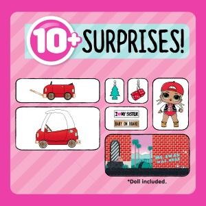 10 сюрпризов в наборе с мебелью.
