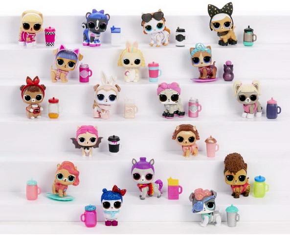 Вся коллекция LOL Fluffy Pets.