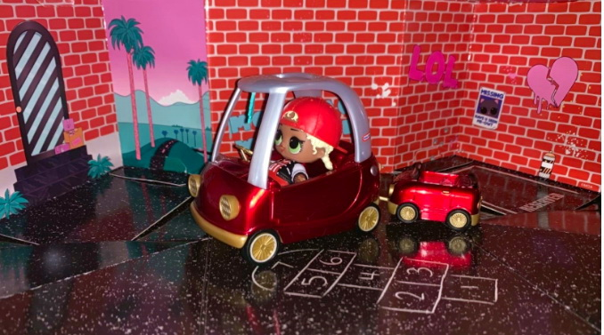 M.C. Swag Cozy Coupe car furniture.