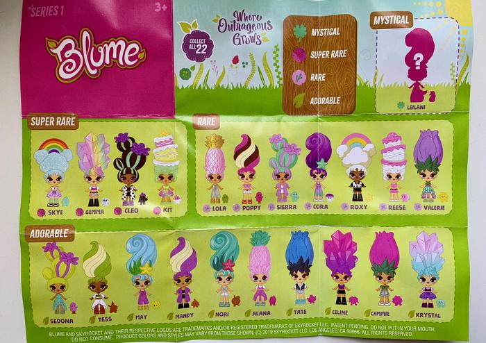 Вкладыш Постер коллекционера Blume Dolls.