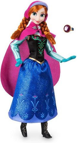 Классическая кукла Анна с колечком от Disneystore.