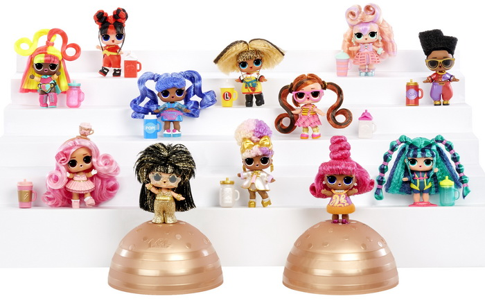 Все куклы ЛОЛ Hairvibes с причёсками.