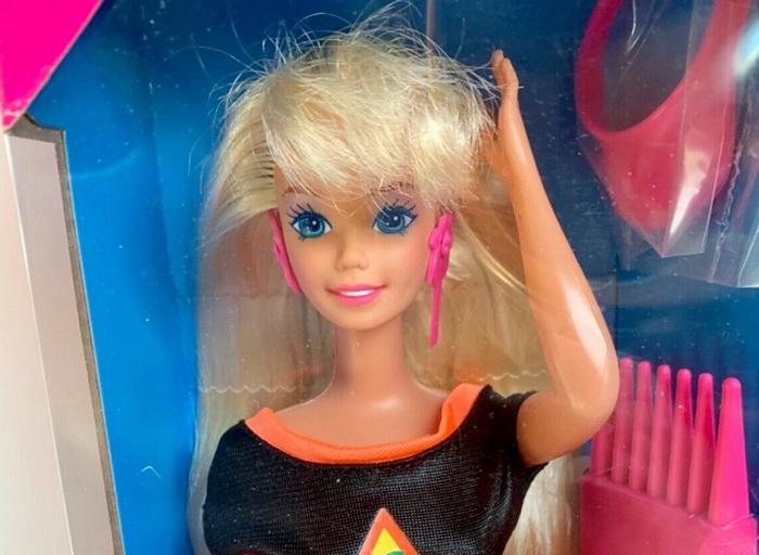Glitter Hair Barbie Doll Mattel.