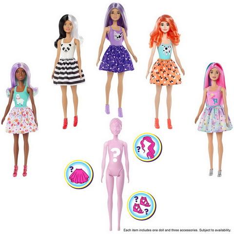 Пять кукол Барби первой волны — Barbie Color Reveal.
