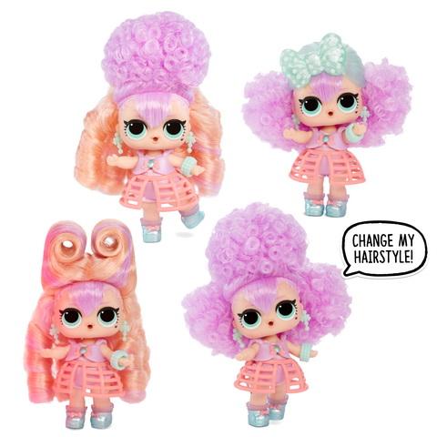 Кукла ЛОЛ с разными причёсками.
