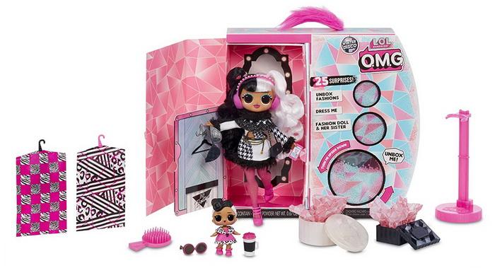 Кукла LOL OMG Dollie в розовых колготках.